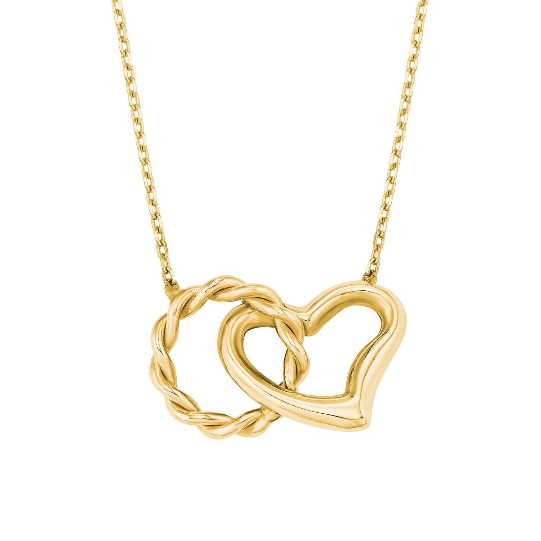 Kette mit Anhänger für Damen, Gold 585, Herz