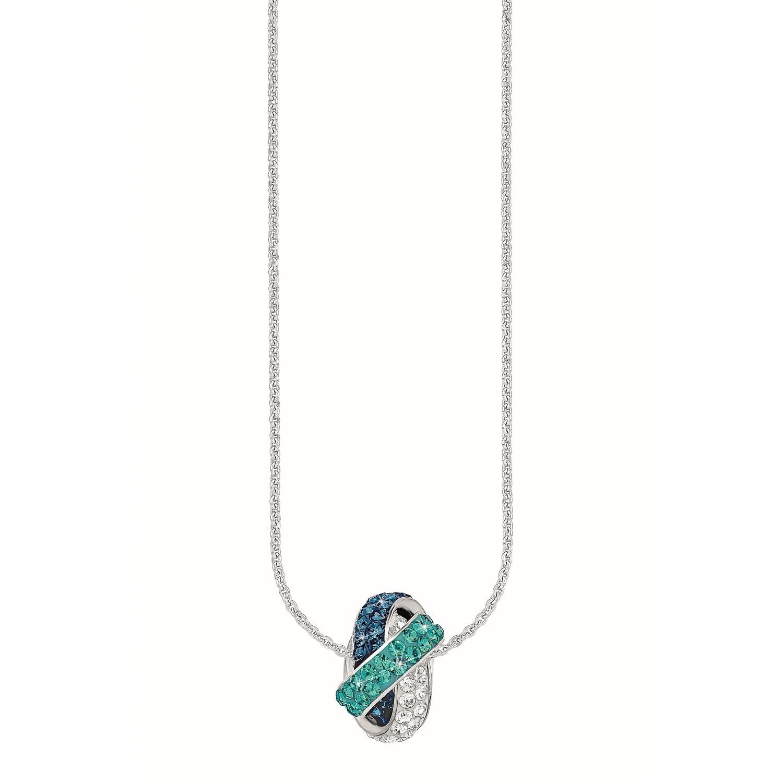 Kette mit Anhänger für Damen, Sterling Silber 925, Kristallglas Fantasie