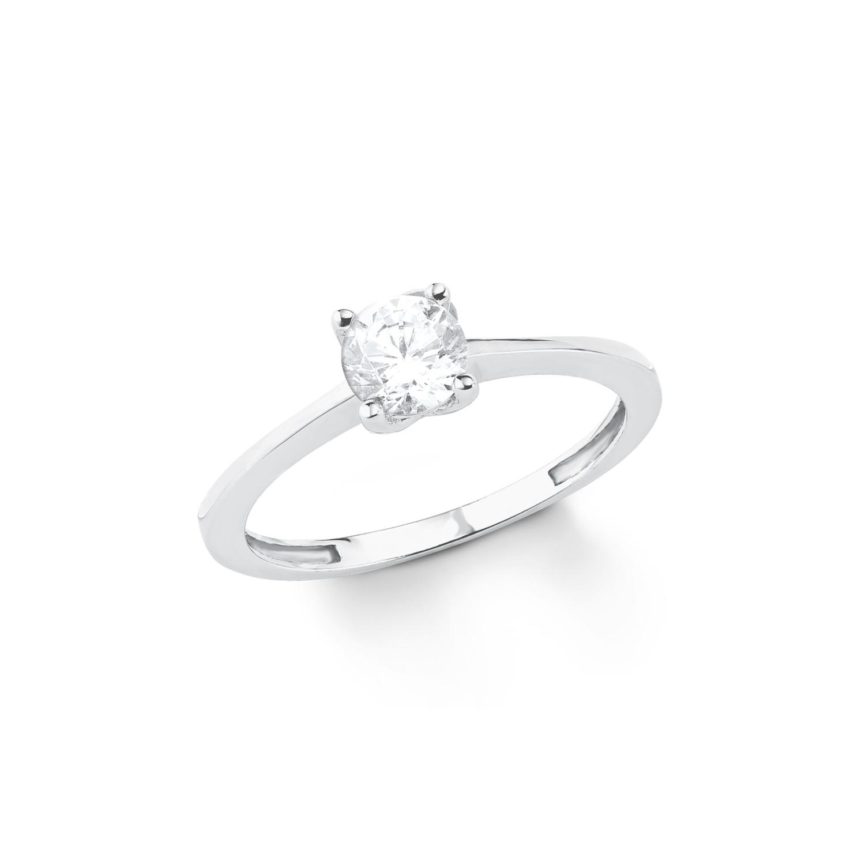 Ring für Damen, Weißgold 333, Zirkonia