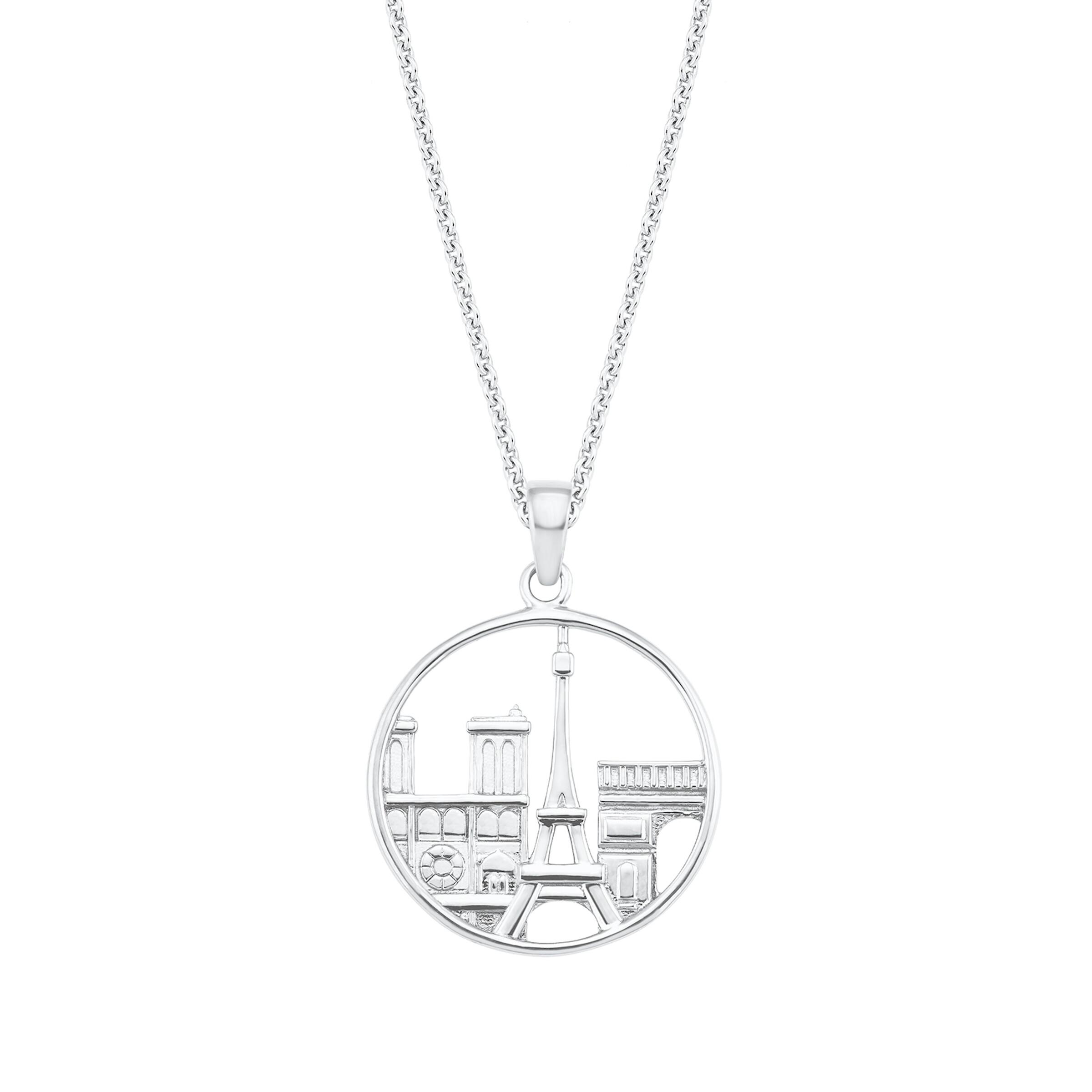 Kette mit Anhänger für Damen, Sterling Silber 925, Paris
