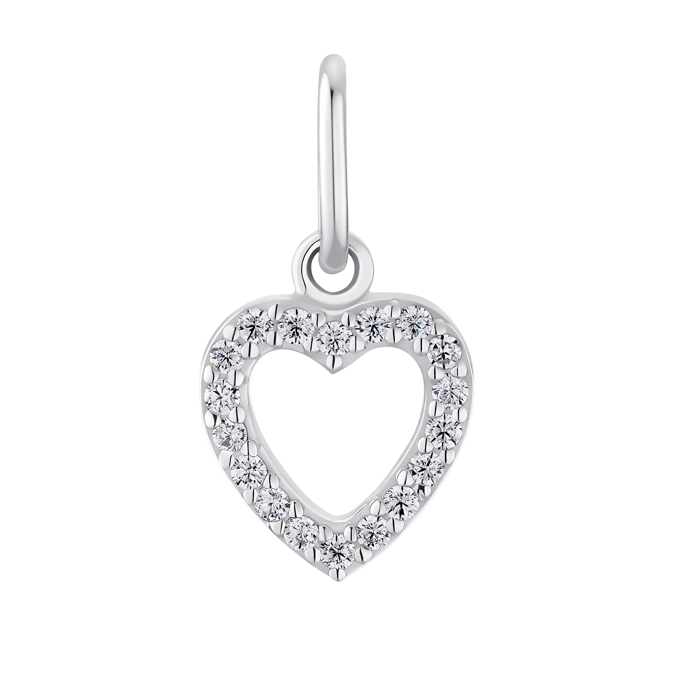 HEART Anhänger für Damen, Sterling Silber 925, Zirkonia Herz