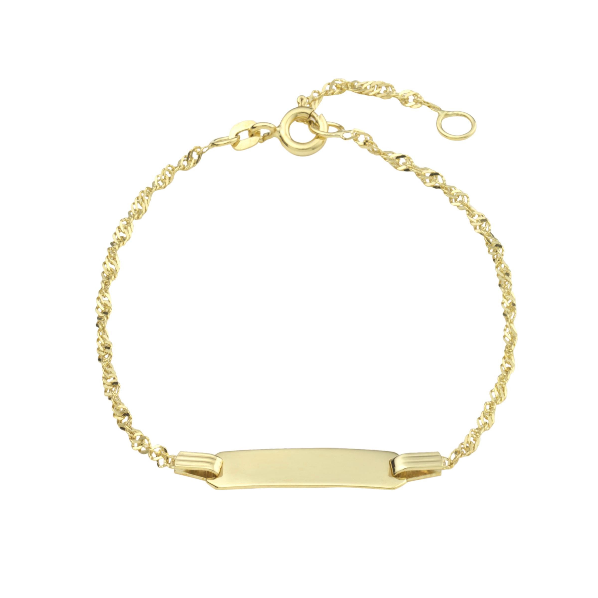 Identarmband für Damen, Gold 375