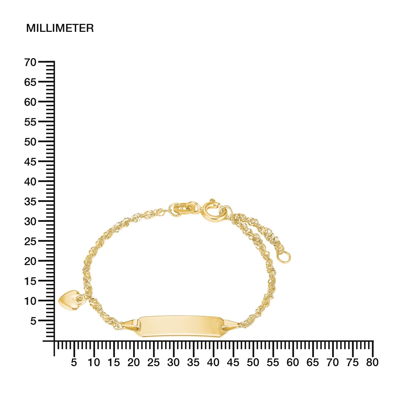 Identarmband Gold 375/9 ct