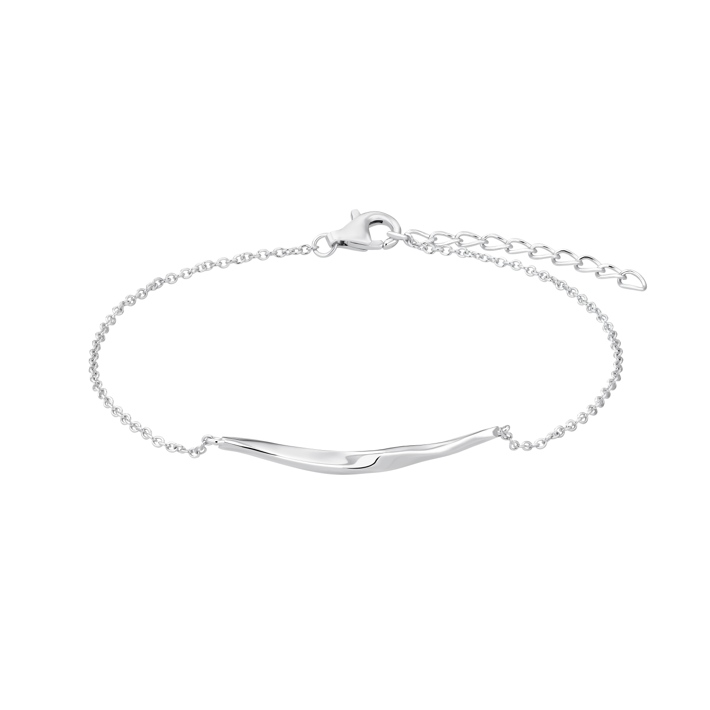 Armband für Damen, Sterling Silber 925 rhodiniert, Zirkonia