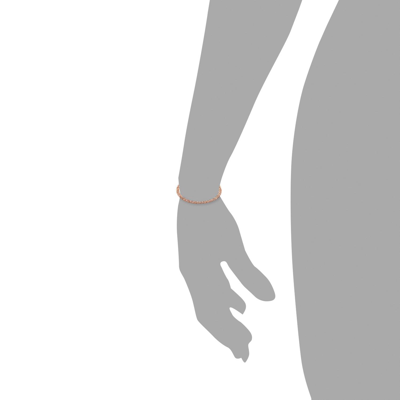 Armband Silber 925, rosévergoldet