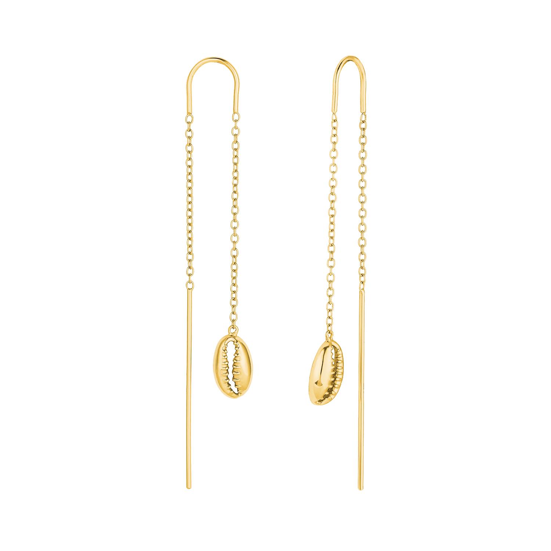 Ohrhänger Silber 925, gelbvergoldet Muschel