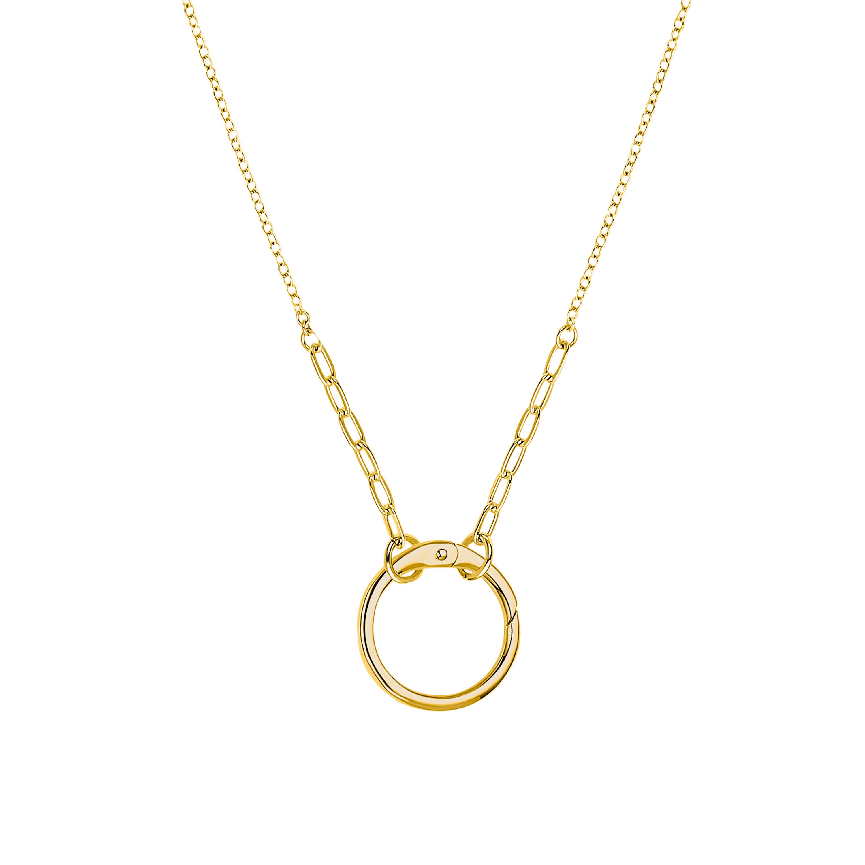 Kette mit Anhänger Sterling Silber 925 vergoldet, Kreis
