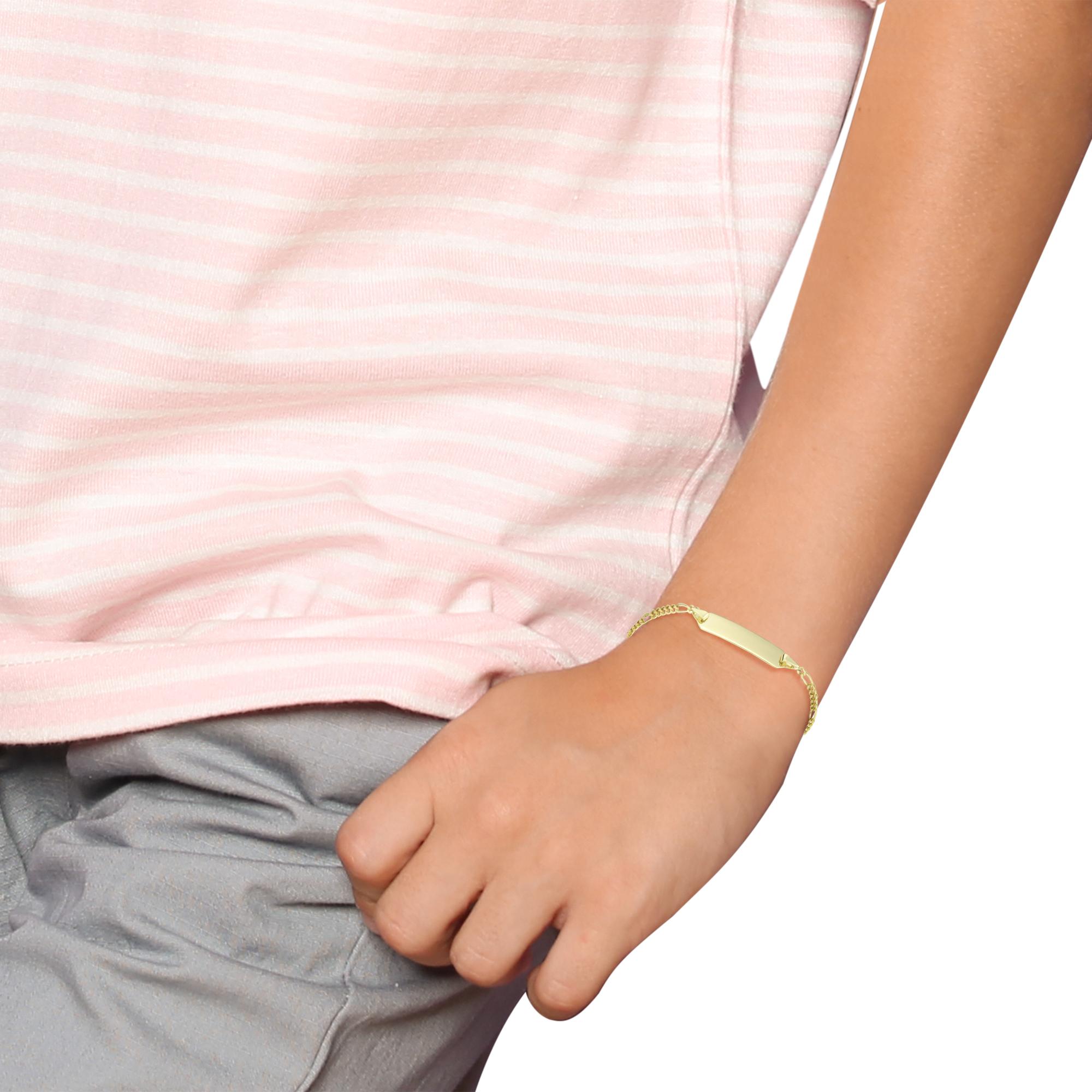 Identarmband für Kinder Unisex, Gold 375