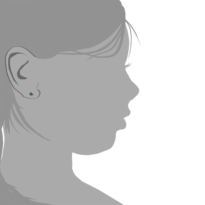 Ohrstecker für Kinder Mädchen, 925 Sterling Silber, Muschel emailliert