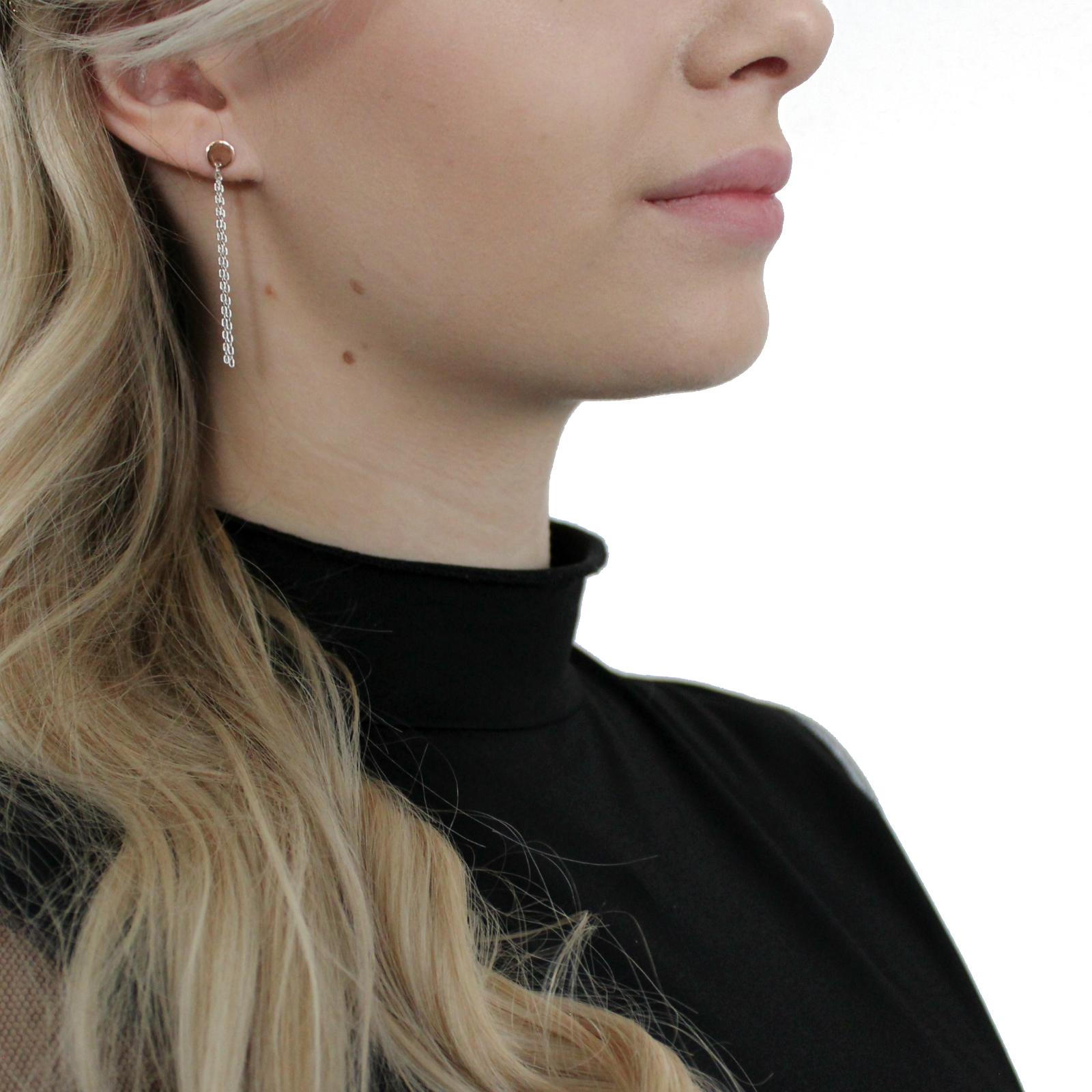 Ohrhänger Silber 925, rhodiniert+rosévergoldet