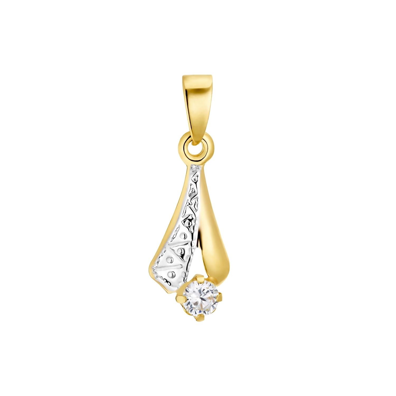 Motivanhänger für Damen, 375 Gold Zirkonia