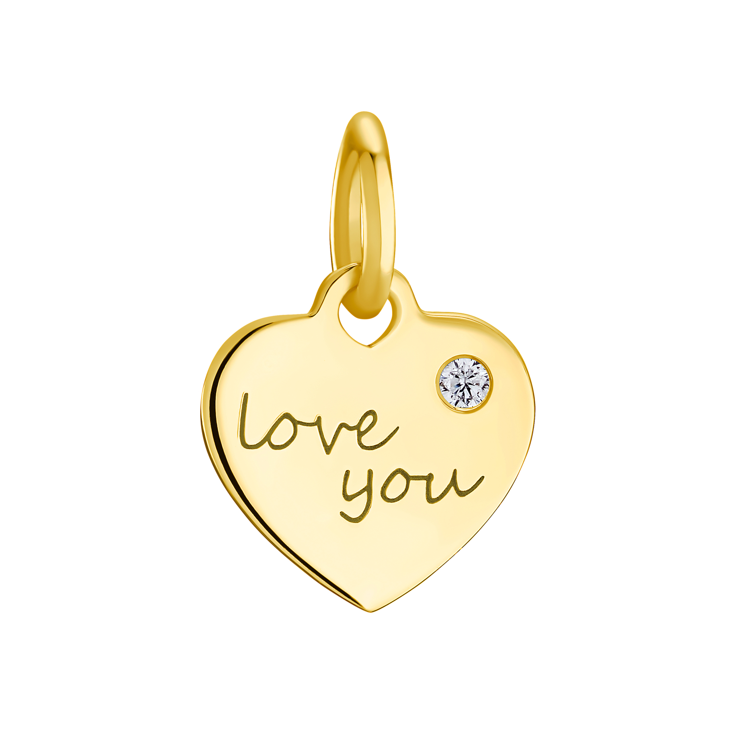 "LOVE YOU Anhänger Unisex, Sterling Silber 925, ""Love you"""