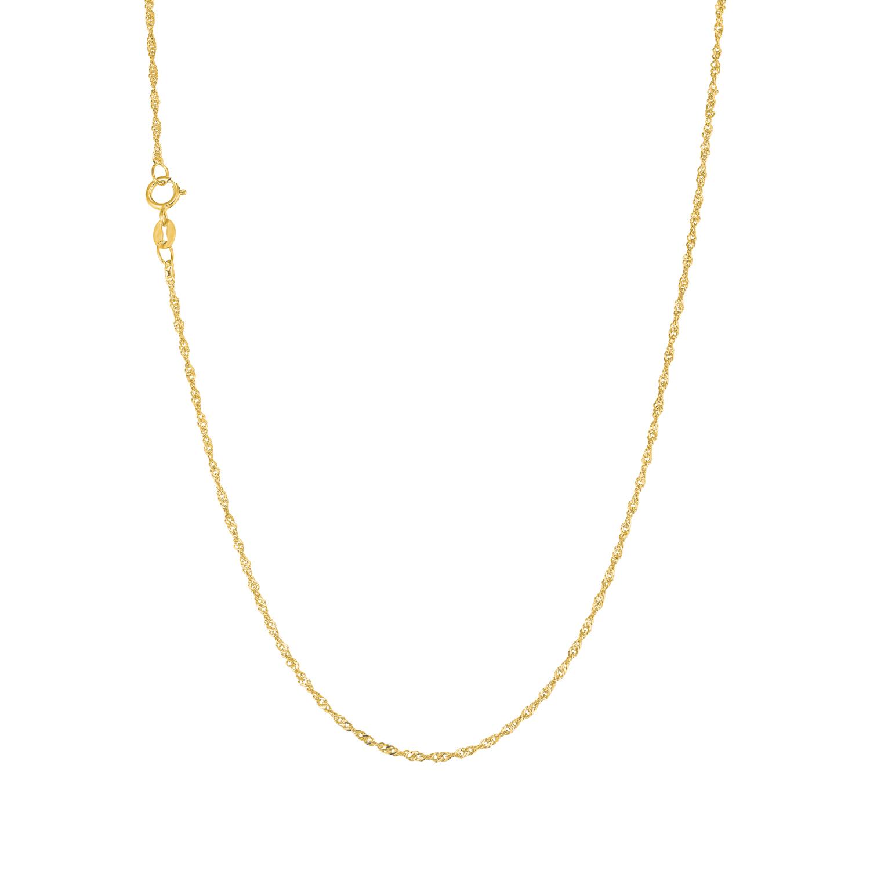 Collier unisex mit Singapurgliederung 45 cm aus Gold 375