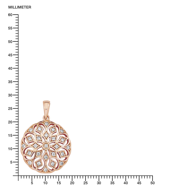 Kette mit Anhänger für Damen, Sterling Silber 925, Zirkonia Ornament