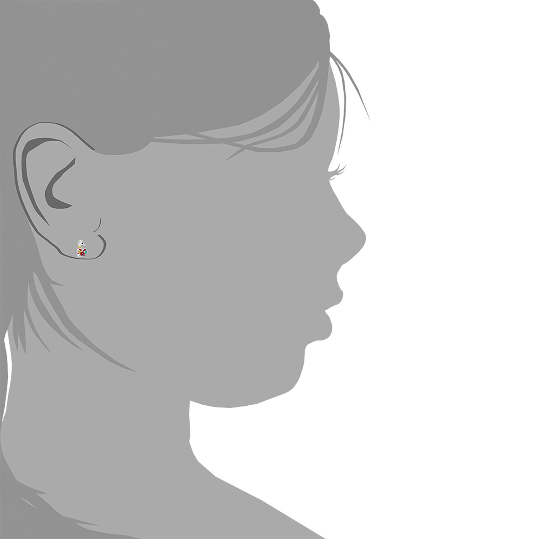 Ohrstecker für Kinder Mädchen, 925 Sterling Silber, Seepferdchen emailliert