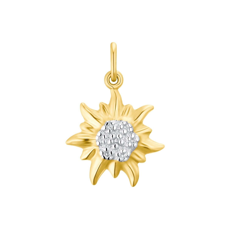 Motivanhänger für Damen, 375 Gold bicolor   Edelweiß