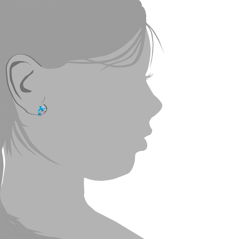Ohrstecker für Mädchen, Sterling Silber 925, Delphin