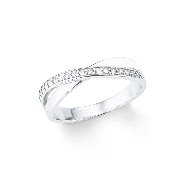 Ring für Damen, Sterling Silber 925, Zirkonia
