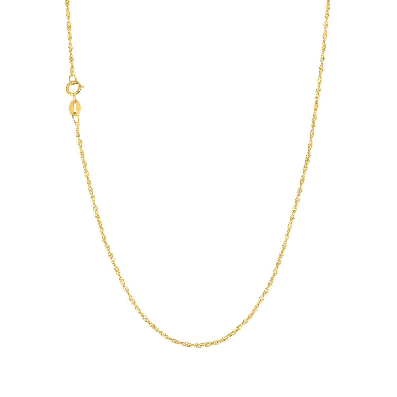Collier Unisex, 375 Gelbgold, Singapurgliederung 42 cm