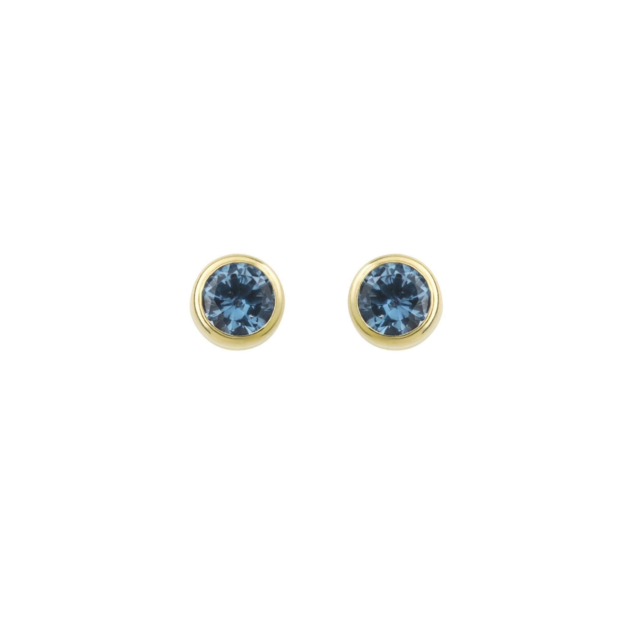 Ohrstecker für Damen, Gold 375, Aquamarin