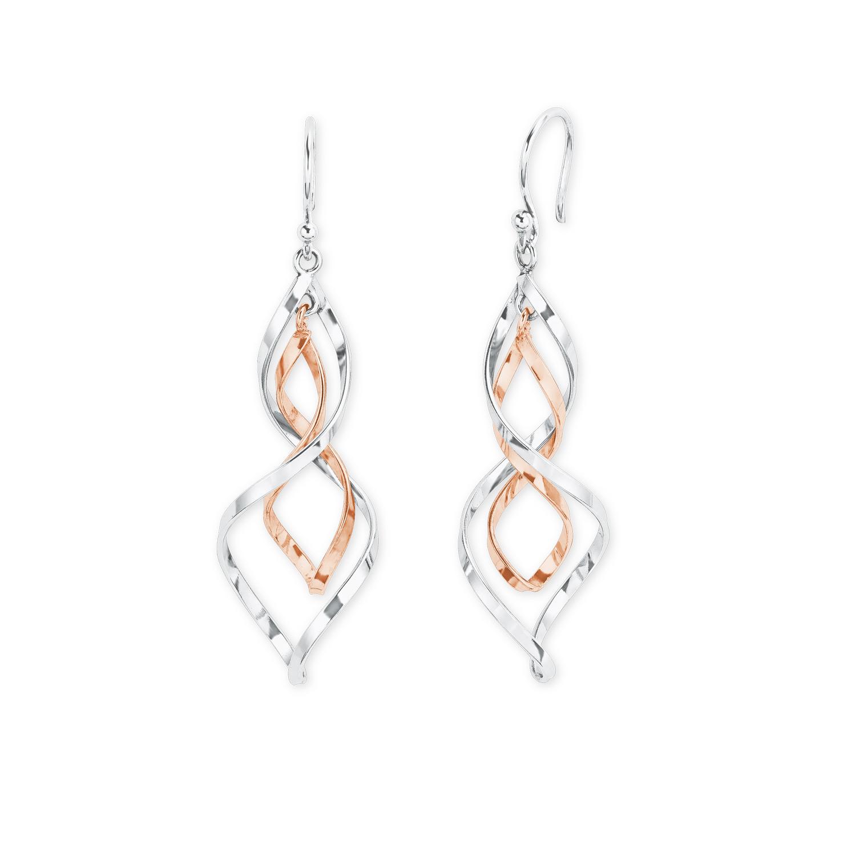 Ohrring für Damen aus Silber 925 bicolor