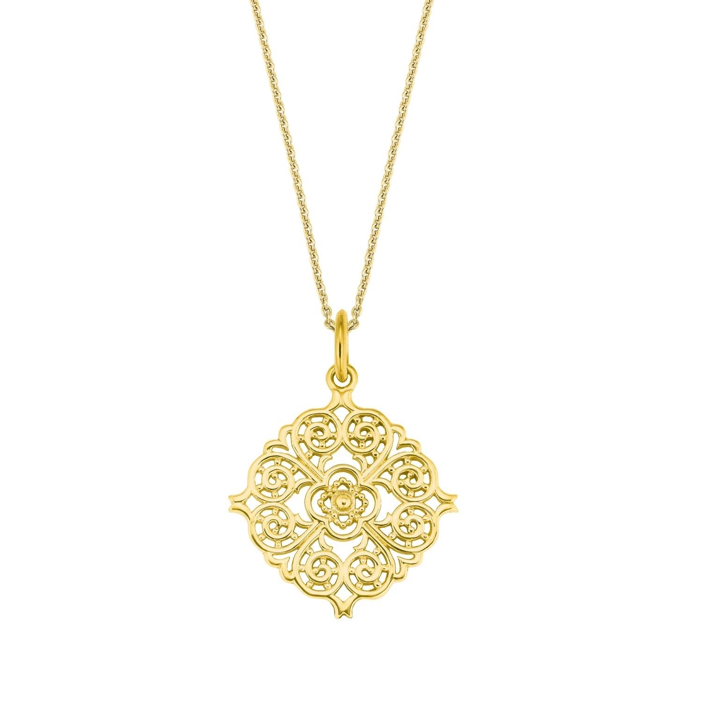 Kette mit Anhänger für Damen, Sterling Silber 925, Ornament