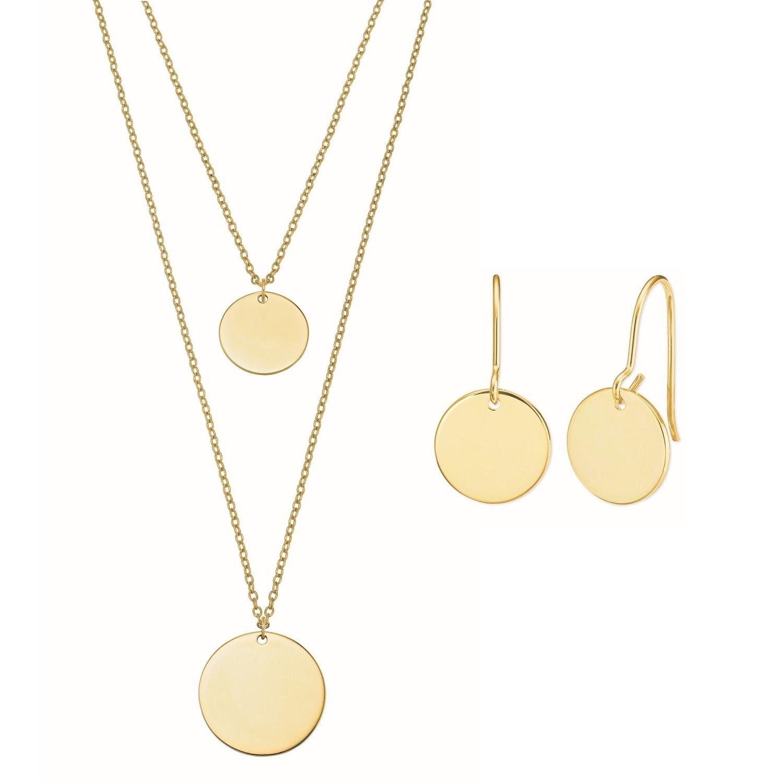 Set Silber 925, e-coating, gelbvergoldet