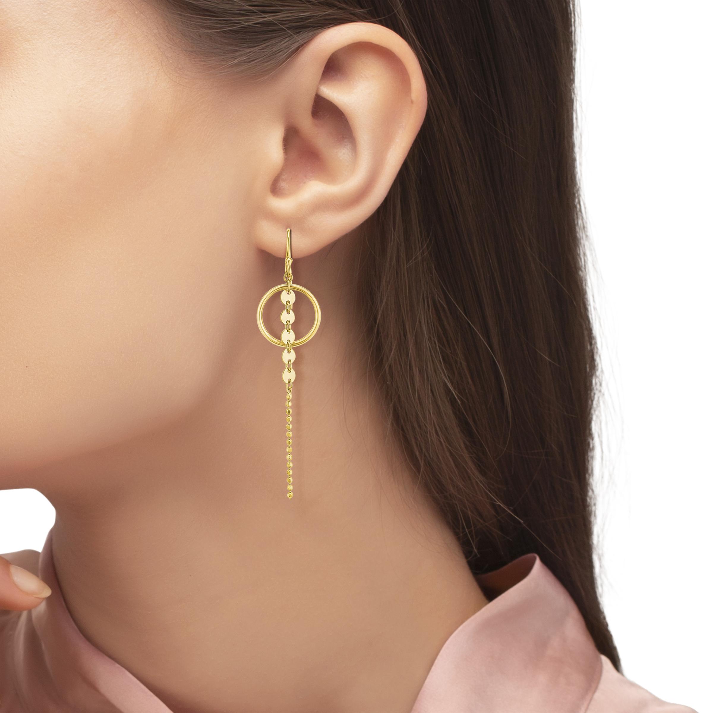 Ohrring Silber 925, gelbvergoldet