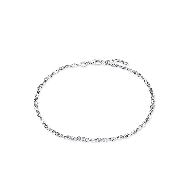 Fußkette für Damen, Sterling Silber 925, Motiv
