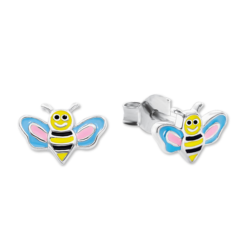 Ohrstecker für Mädchen, Sterling Silber 925, Biene