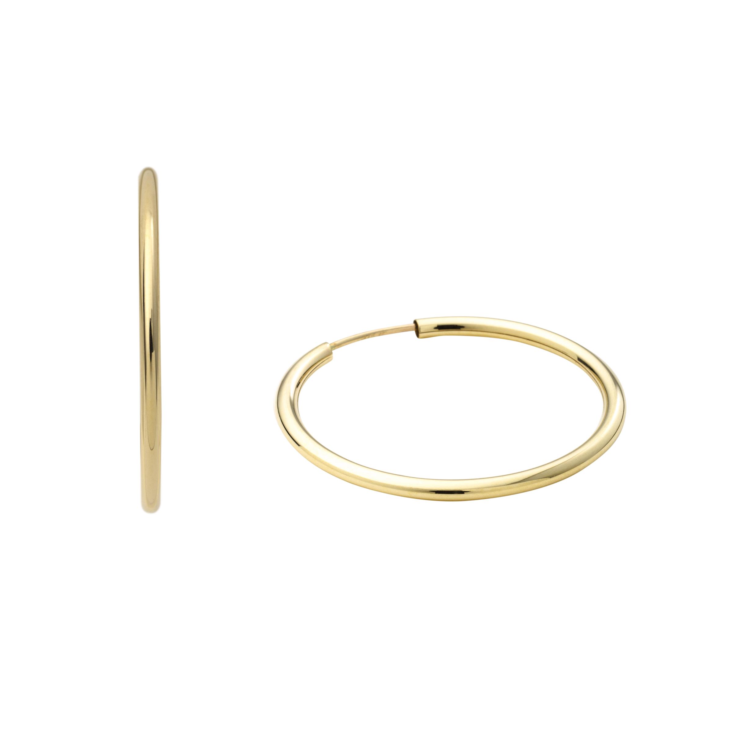 Creolen für Damen, Gold 375, 25 mm