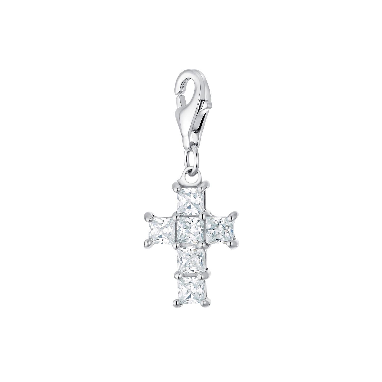 Charms für Damen, 925 Sterling  Silber  Zirkonia | Kreuz
