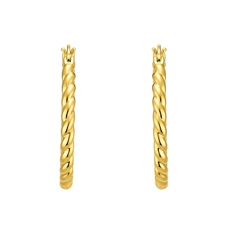 Creolen für Damen, Silber 925 vergoldet