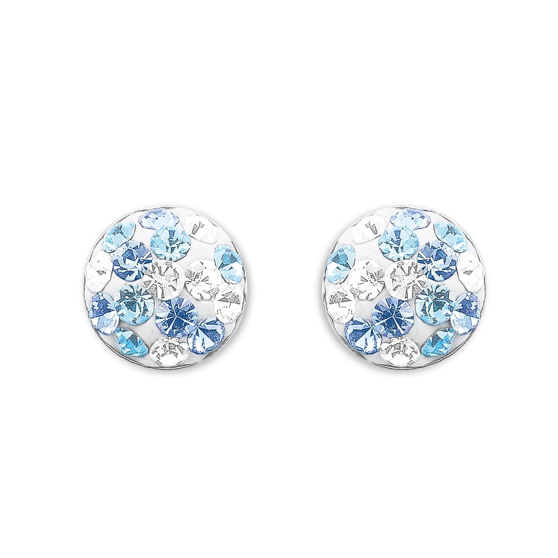 Ohrstecker für Mädchen, Sterling Silber 925, Preciosa Steine