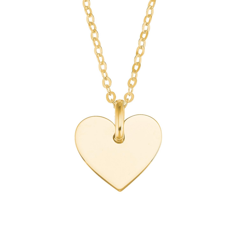 Kette mit Anhänger für Damen, Gold 375, Herz