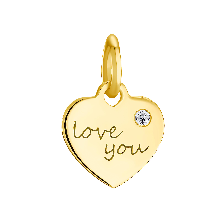 """LOVE YOU Anhänger für Damen, Sterling Silber 925, """"Love you"""""""