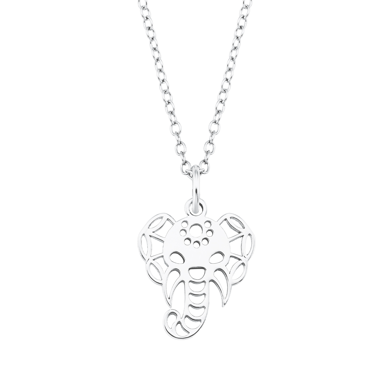 Kette mit Anhänger für Damen, Sterling Silber 925, Elefant