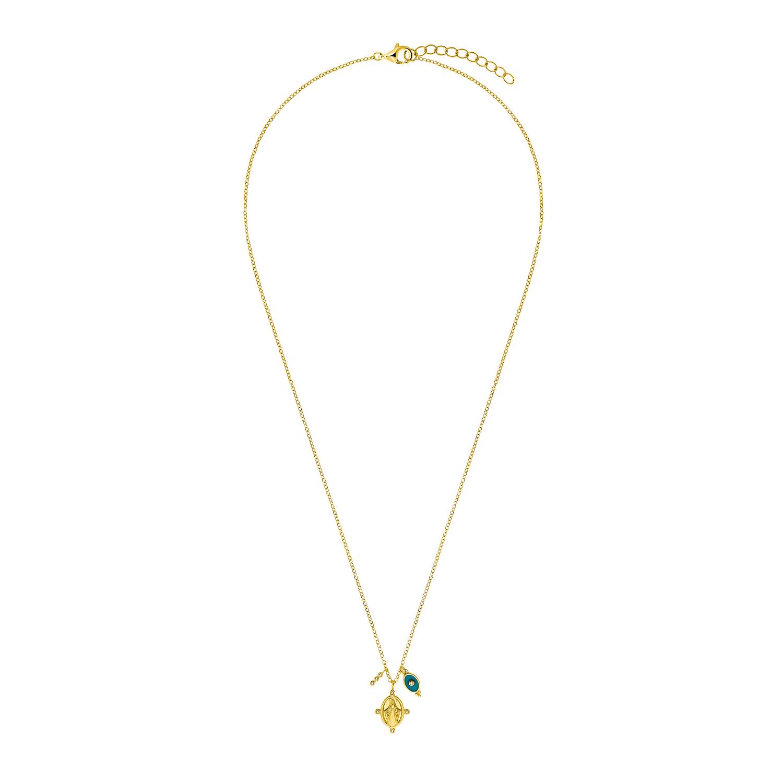Kette mit Anhänger für Damen, Sterling Silber 925 vergoldet | Marienbild