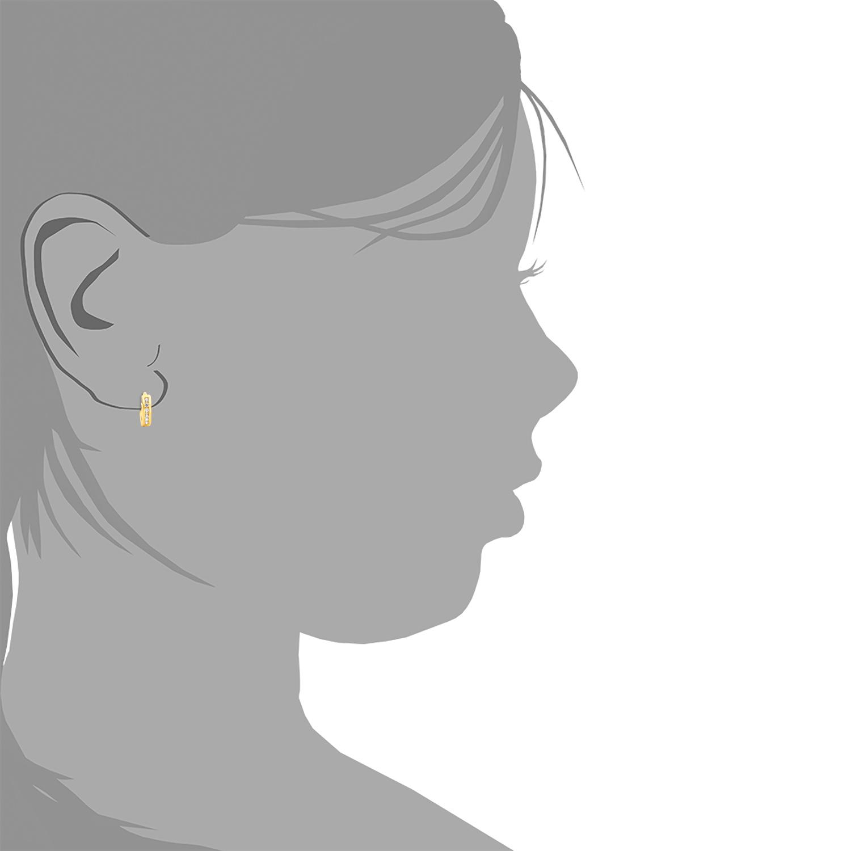 Creolen für Mädchen, Sterling Silber 925, Zirkonia