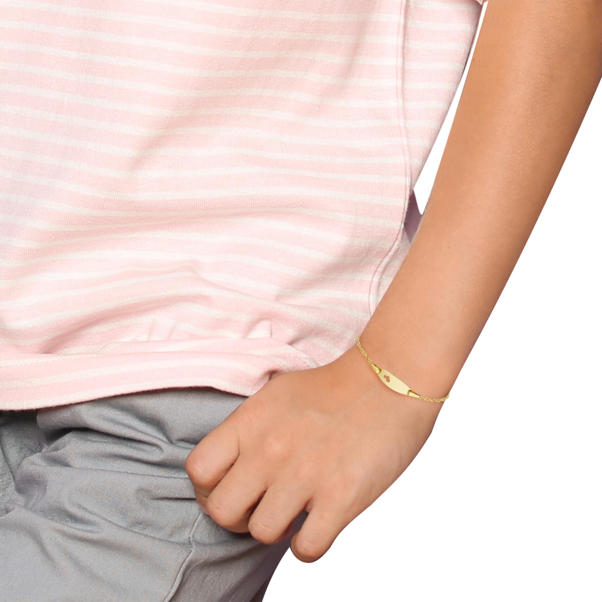 Armband für Mädchen aus Gold 375/9 ct, 14+2 cm, Herz