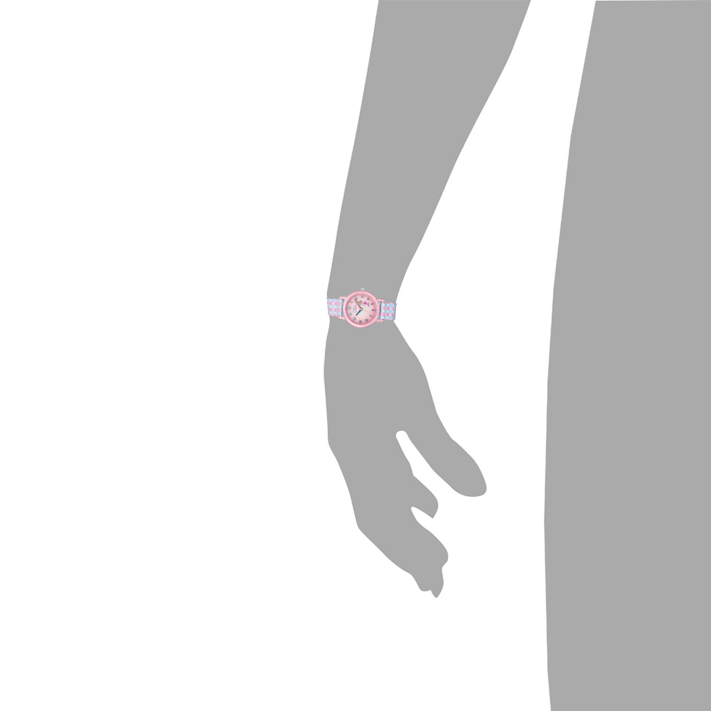 Quarzuhr für Mädchen, Analog Quarz   Muscheln blau rosa