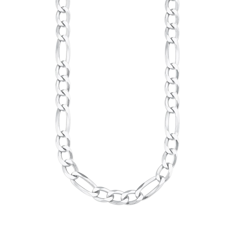 Halskette für Herren, Silber 925, Figaro 55 cm