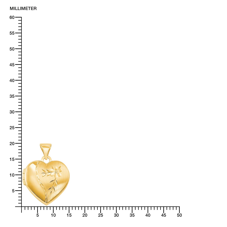 Anhänger für Damen, Gold 375, Herz