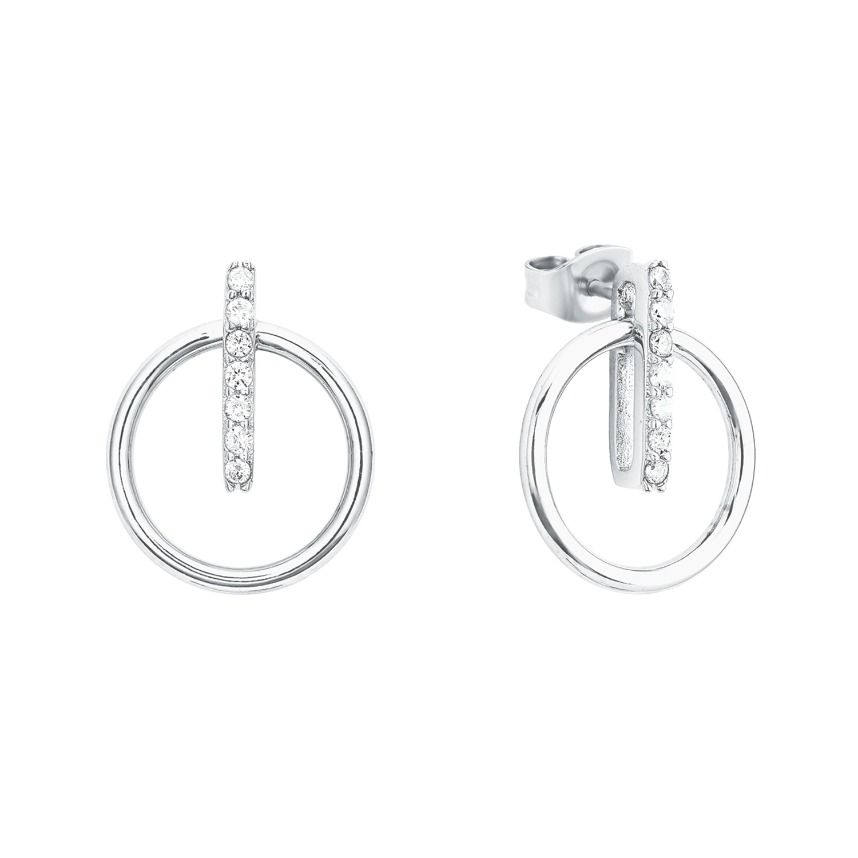 Ohrstecker für Damen, Sterling Silber 925, Zirkonia