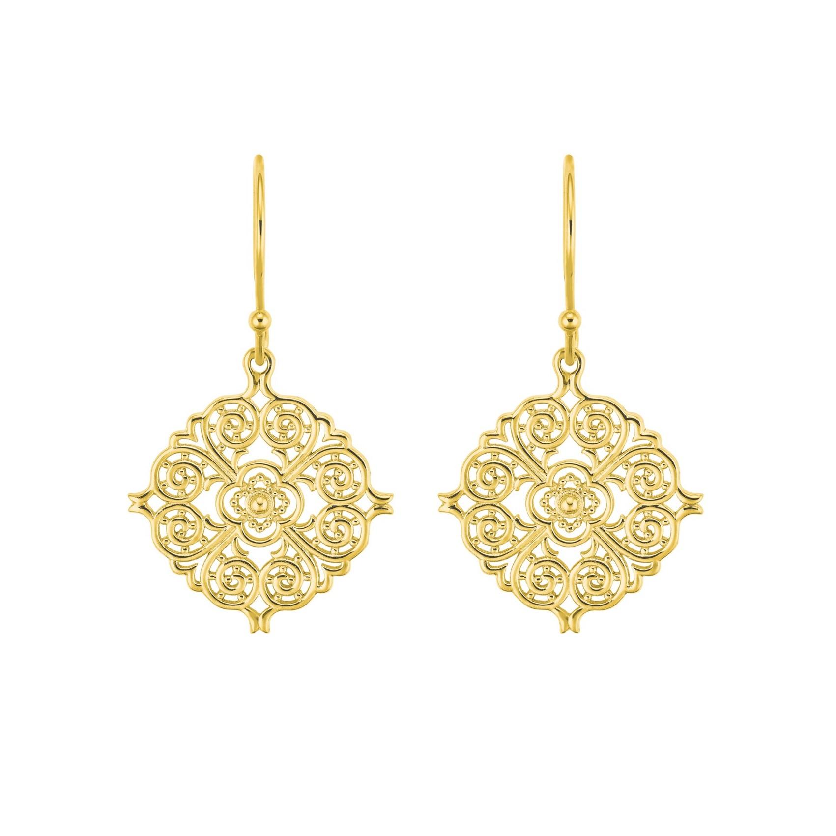 Ohrhänger für Damen, Sterling Silber 925, Ornamente