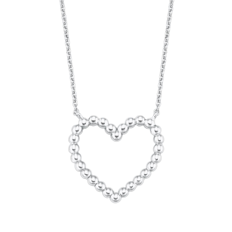 Kette mit Anhänger für Damen, Silber 925, Herz