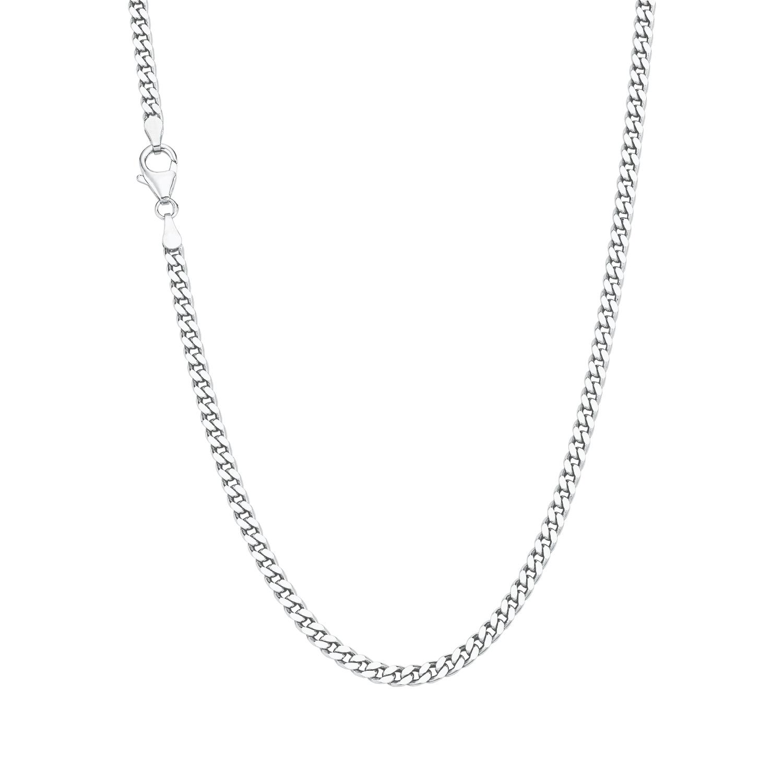 Halskette Unisex, Sterling Silber 925, Panzergliederung 50 cm