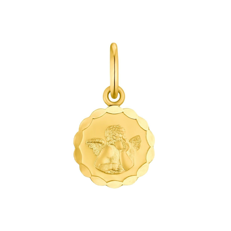 Motivanhänger für Mädchen, 750 Gold   Engel