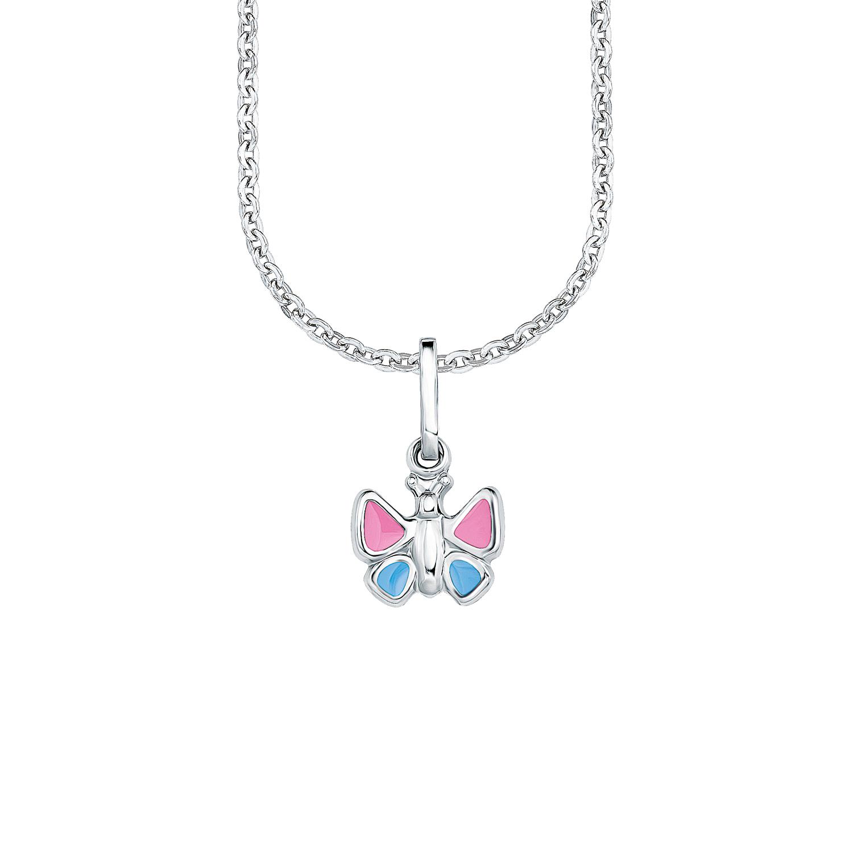 Kette mit Anhänger für Mädchen, Sterling Silber 925, Schmetterling