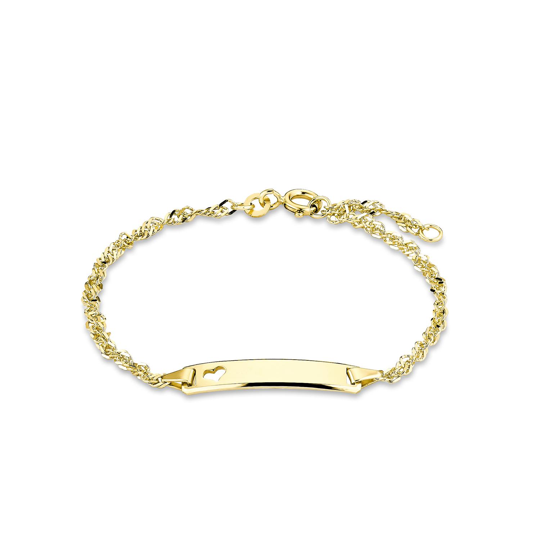 Identarmband Unisex, Gold 375